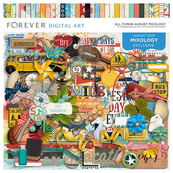 All Things August Mixology Digital Art - Digital Scrapbooking Kits