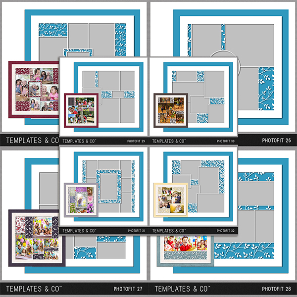 Photofit 25 - 32 Digital Art - Digital Scrapbooking Kits
