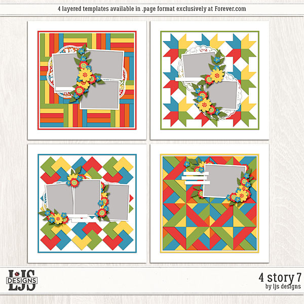 4 Story 7 Digital Art - Digital Scrapbooking Kits