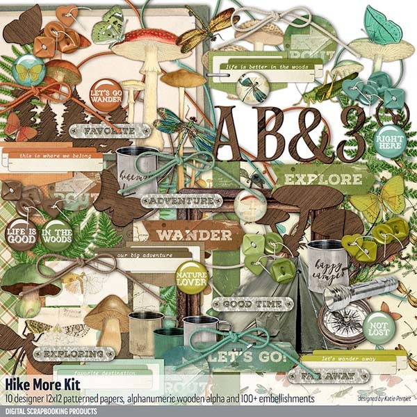 Hike More Outdoors Scrapbook Kit