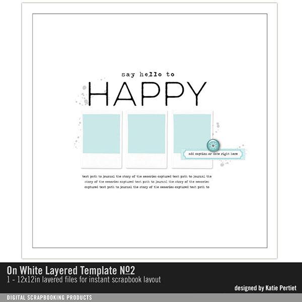 On White Layered Template No. 02 Digital Art - Digital Scrapbooking Kits