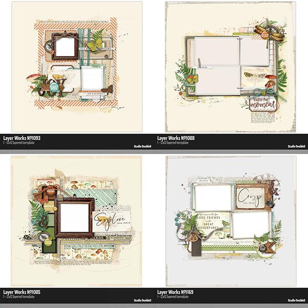 Travel Template Bundle Digital Art - Digital Scrapbooking Kits