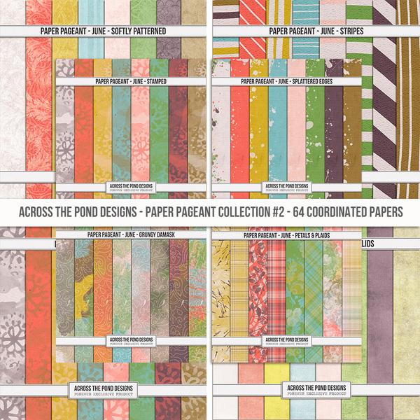 Paper Pageant - June - Bundle Digital Art - Digital Scrapbooking Kits