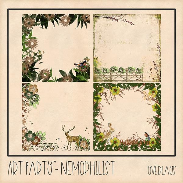Nemophilist Overlays Digital Art - Digital Scrapbooking Kits