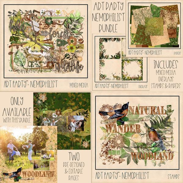 Nemophilist Complete Collection Digital Art - Digital Scrapbooking Kits