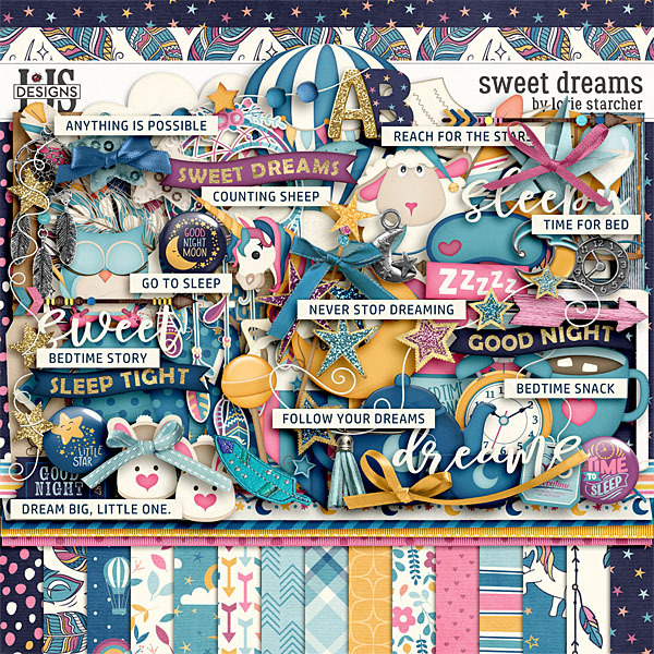 Sweet Dreams Digital Art - Digital Scrapbooking Kits