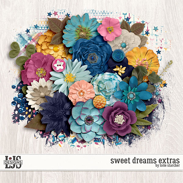 Sweet Dream Extras Digital Art - Digital Scrapbooking Kits