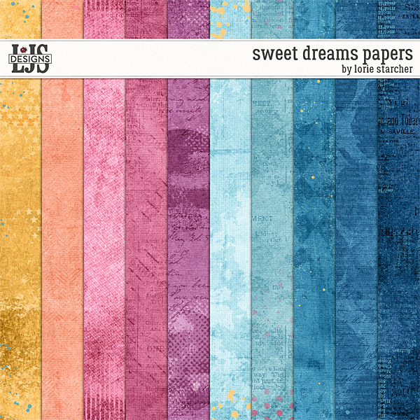 Sweet Dreams Papers Digital Art - Digital Scrapbooking Kits