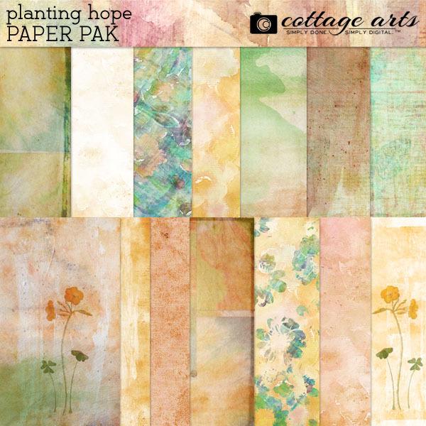 Planting Hope Paper Pak Digital Art - Digital Scrapbooking Kits