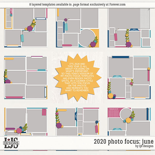 2020 Photo Focus - June Digital Art - Digital Scrapbooking Kits