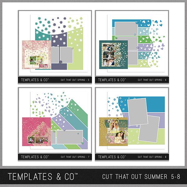 Cut That Out Summer 5-8 Digital Art - Digital Scrapbooking Kits