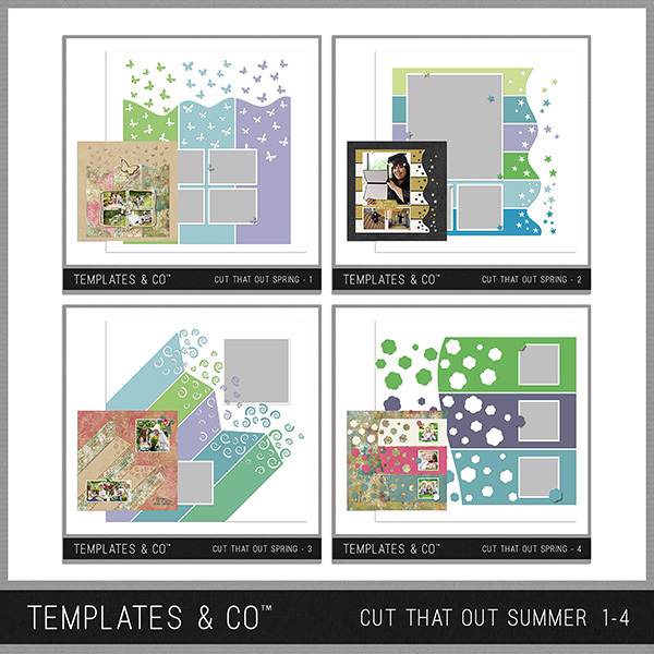 Cut That Out Summer 1-4 Digital Art - Digital Scrapbooking Kits