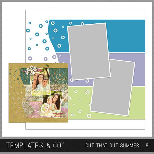 Cut That Out Summer - 8 Digital Art - Digital Scrapbooking Kits