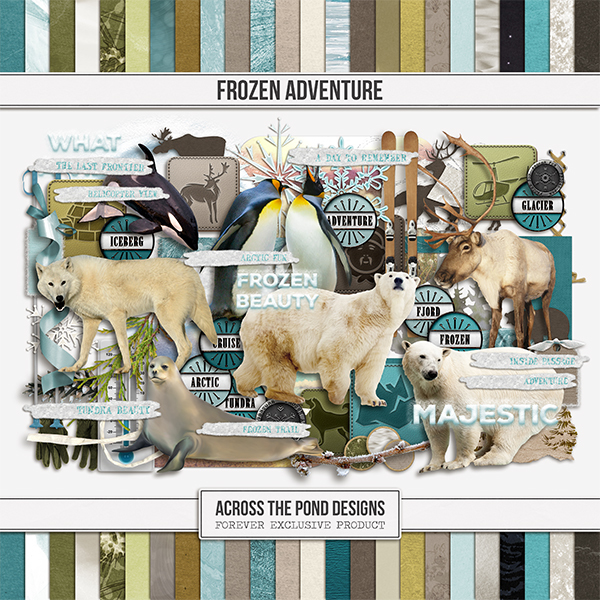 Frozen Adventure Page Kit