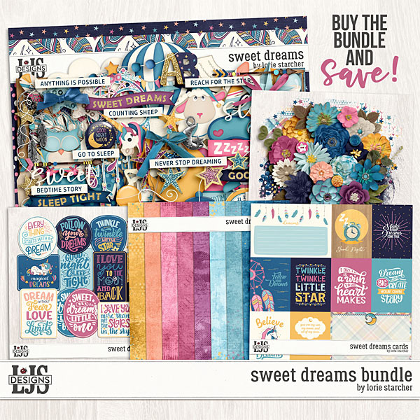 Sweet Dreams Bundle Digital Art - Digital Scrapbooking Kits