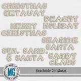Beachside Christmas Word Art