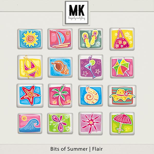Bits of Summer - Flair Digital Art - Digital Scrapbooking Kits