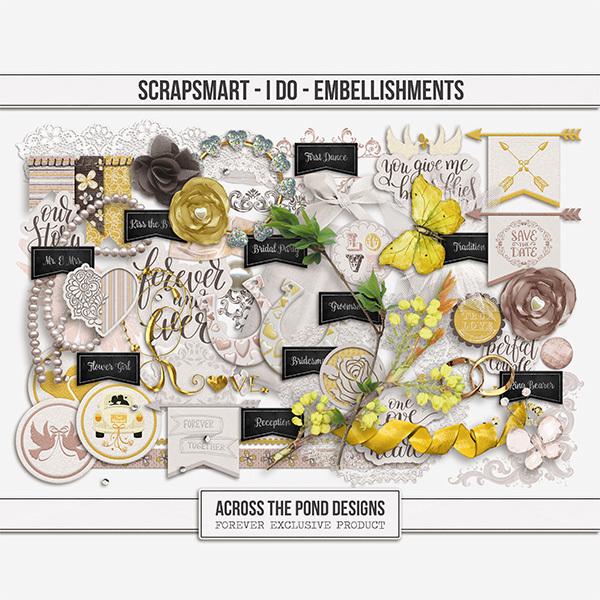 ScrapSmart - I Do  - Embellishments Digital Art - Digital Scrapbooking Kits
