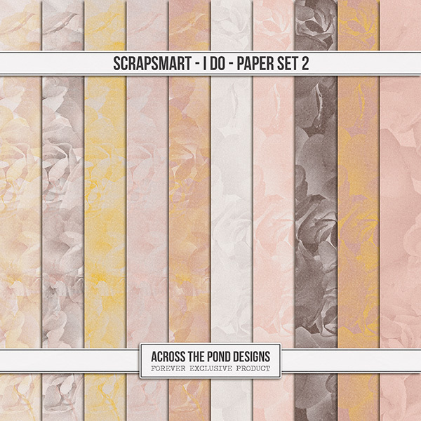 ScrapSmart - I Do  - Paper Set 2 Digital Art - Digital Scrapbooking Kits