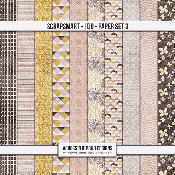 ScrapSmart - I Do  - Paper Set 3 Digital Art - Digital Scrapbooking Kits