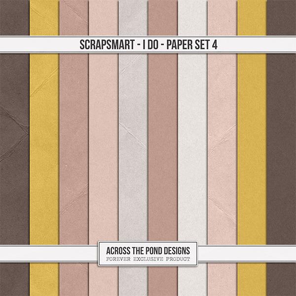 ScrapSmart - I Do  - Paper Set 4 Digital Art - Digital Scrapbooking Kits
