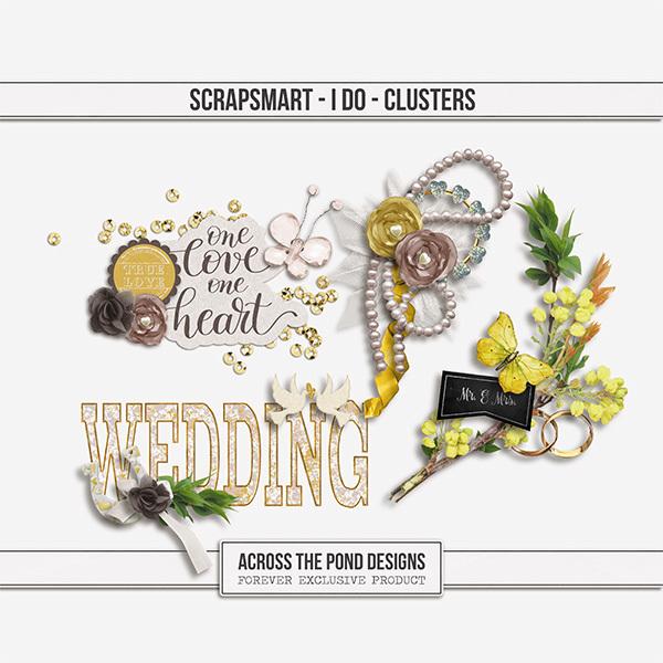 ScrapSmart - I Do  - Clusters Digital Art - Digital Scrapbooking Kits