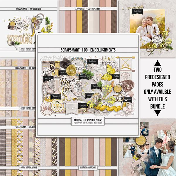 ScrapSmart - I Do  - Bundle Digital Art - Digital Scrapbooking Kits
