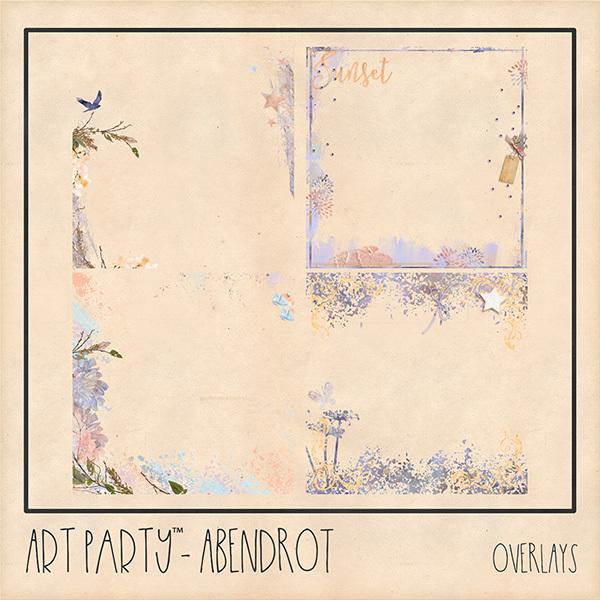 Abendrot Overlays Digital Art - Digital Scrapbooking Kits