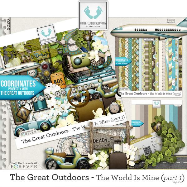 The Great Outdoors - The World Is Mine Part 1 Digital Art - Digital Scrapbooking Kits