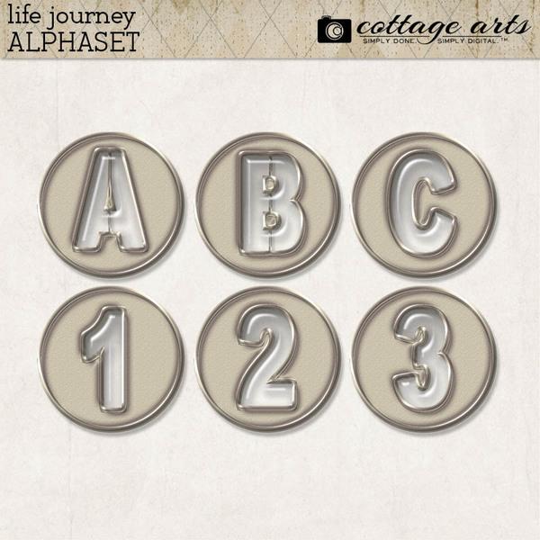 Life Journey AlphaSet Digital Art - Digital Scrapbooking Kits