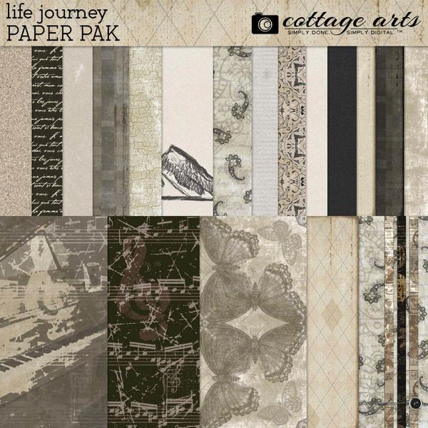 Life Journey Paper Pak Digital Art - Digital Scrapbooking Kits