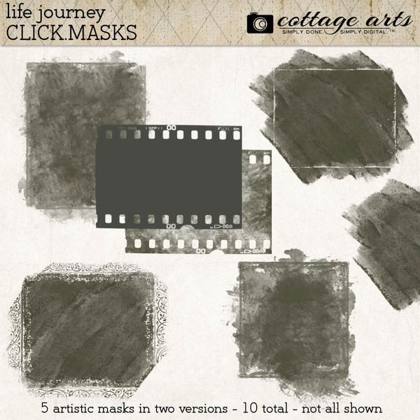 Life Journey Click.Masks Digital Art - Digital Scrapbooking Kits