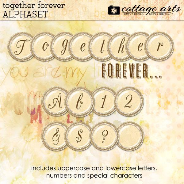 Together Forever AlphaSet Digital Art - Digital Scrapbooking Kits