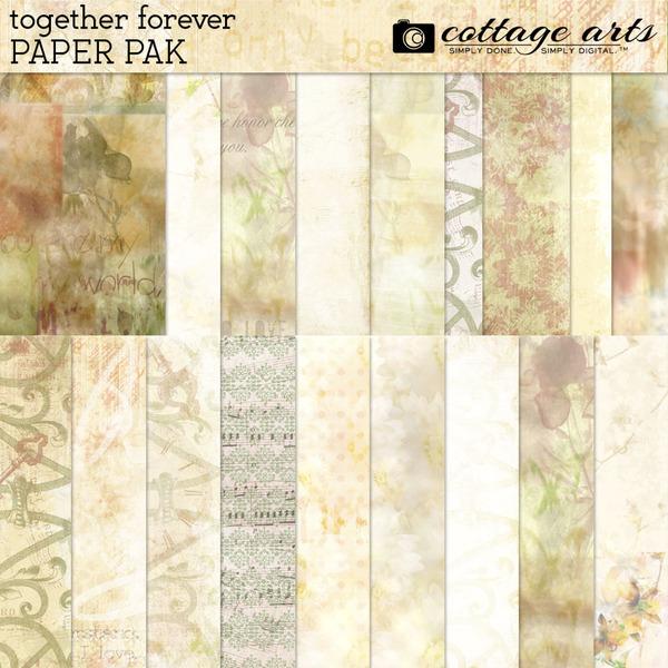 Together Forever Paper Pak Digital Art - Digital Scrapbooking Kits