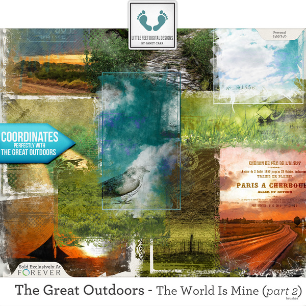 The Great Outdoors - The World Is Mine - Part 2 Brushes Digital Art - Digital Scrapbooking Kits