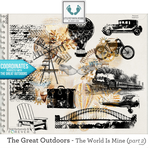 The Great Outdoors - The World Is Mine - Part 2 Stamps Digital Art - Digital Scrapbooking Kits