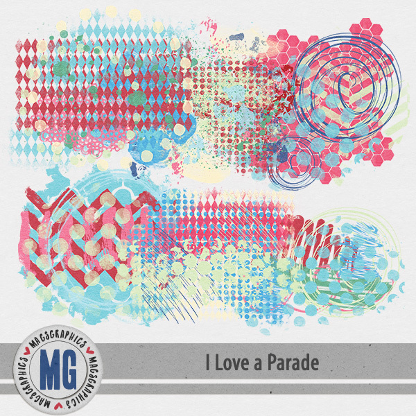 I Love A Parade Hodge Podge Digital Art - Digital Scrapbooking Kits