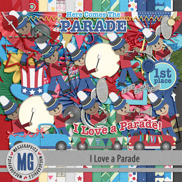 I Love A Parade Kit Digital Art - Digital Scrapbooking Kits