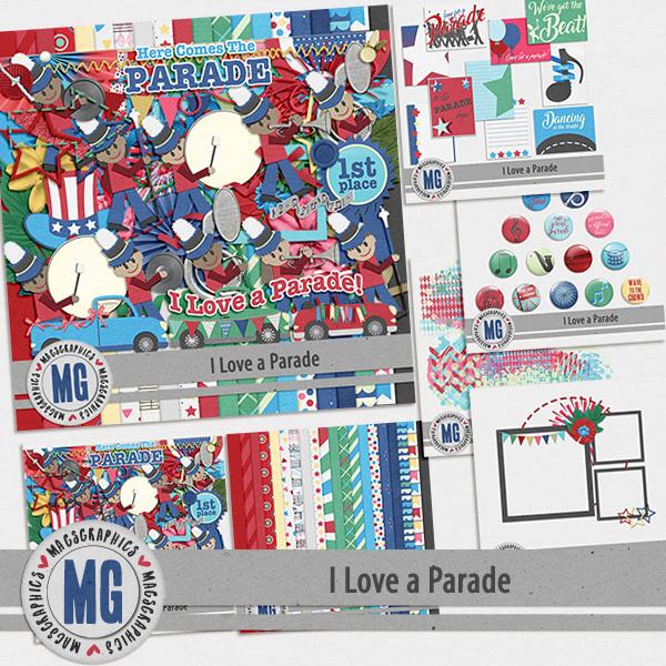 I Love A Parade Bundle Digital Art - Digital Scrapbooking Kits