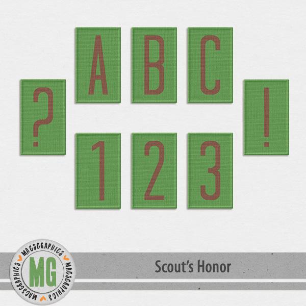 Scout's Honor Alpha 2 Digital Art - Digital Scrapbooking Kits