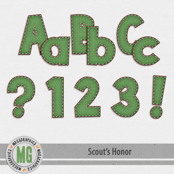 Scout's Honor Alpha 1 Digital Art - Digital Scrapbooking Kits