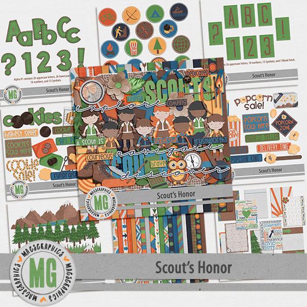 Scout's Honor Bundle Digital Art - Digital Scrapbooking Kits