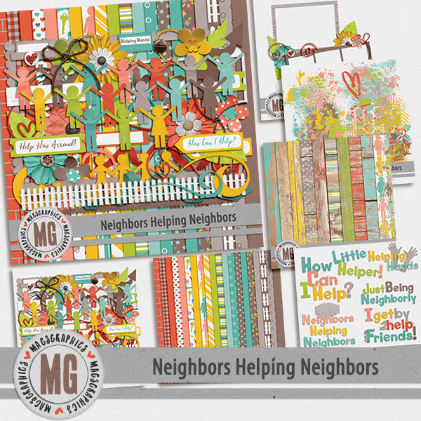 Neighbors Helping Neighbors Bundle Digital Art - Digital Scrapbooking Kits