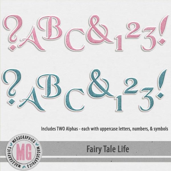 Fairy Tale Life Alphas Digital Art - Digital Scrapbooking Kits