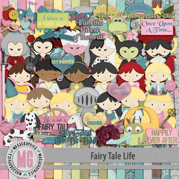 Fairy Tale Life Kit Digital Art - Digital Scrapbooking Kits