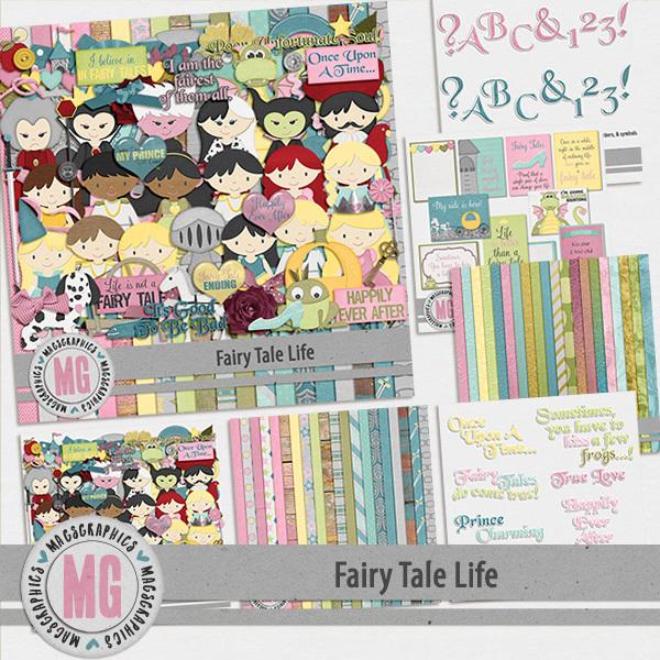 Fairy Tale Life Bundle Digital Art - Digital Scrapbooking Kits