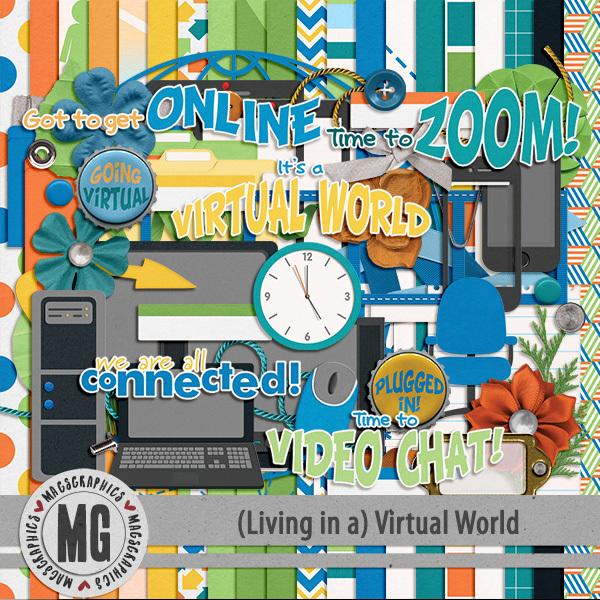 Virtual World Kit Digital Art - Digital Scrapbooking Kits