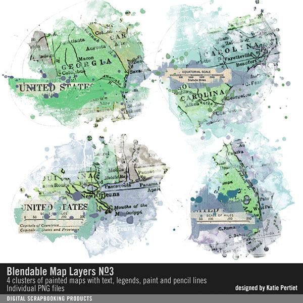 Blendable Map Layers 03 Digital Art - Digital Scrapbooking Kits