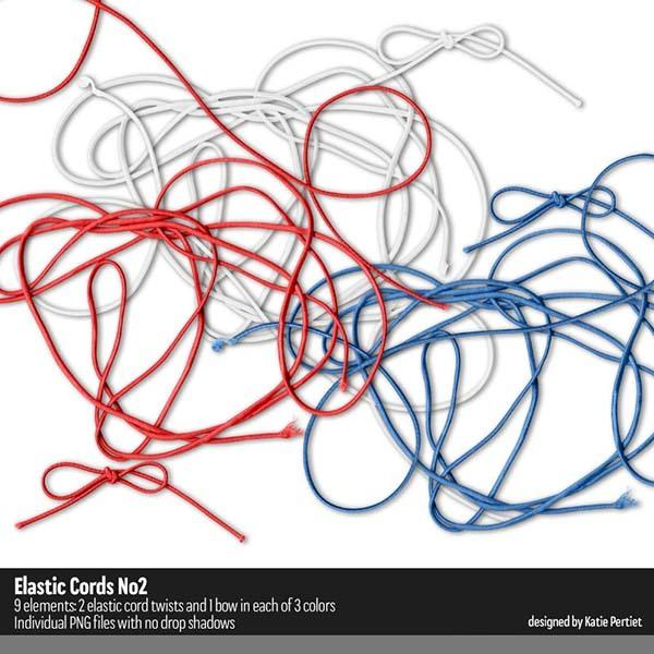Elastic Cords 02 Digital Art - Digital Scrapbooking Kits