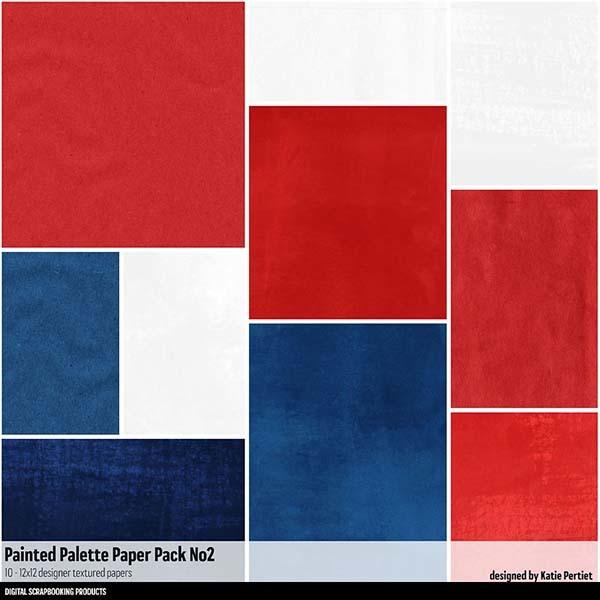 Painted Palettes Paper Pack 02 Digital Art - Digital Scrapbooking Kits